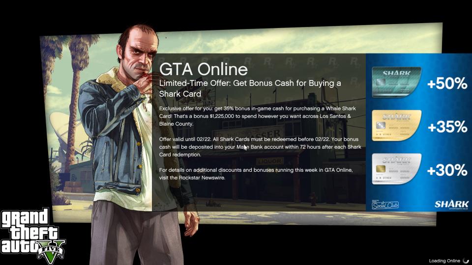 Gta Online Shark Card Bonus